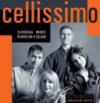 Classical music played on 4 cellos - Cellissimo