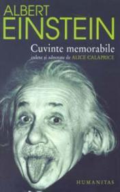 Cuvinte memorabile (culese si adnotate de Alice Calaprice) - Einstein Albert
