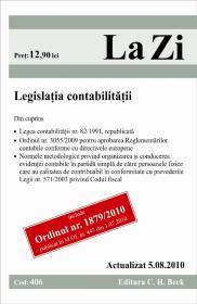 Legislatia contabilitatii (actualizat la 05.08.2010). Cod 406 -