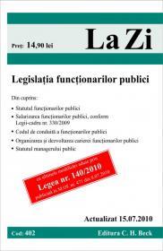 Legislatia functionarilor publici (actualizat la 15.07.2010). Cod 402 -