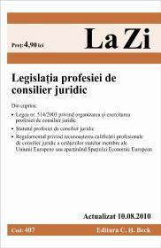 Legislatia profesiei de consilier juridic (actualizat 10.08.2010). Cod 407 -