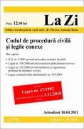 Codul de procedura civila si legile conexe (actualizat la 10.04.2011). Cod 430 - Editie coordonata de conf. univ. dr. Baias Flavius-Antoniu