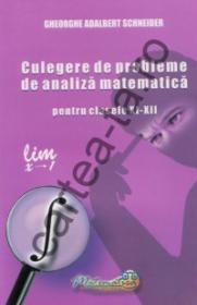 Culegere de probleme de analiza matematica pentru clasele XI - XII - Gheorghe Adalbert Schneider