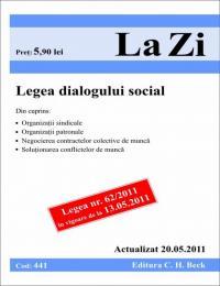 Legea dialogului social (actualizat la 20.05.2011). Cod 441 -
