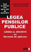 Legea pensiilor publice - Culegere de acte normative