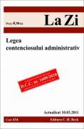 Legea contenciosului administrativ (actualizat la 10.03.2011). Cod 434 -