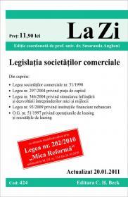 Legislatia societatilor comerciale (actualizat la 20.01.2011). Cod 424 - Editie coordonata de prof. univ. dr. Smaranda Angheni