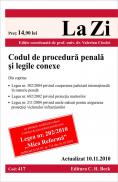 Codul de procedura penala si legile conexe (actualizat la 10.11.2010). Cod 417 - Editie coordonata de prof. univ. dr. Valerian Cioclei