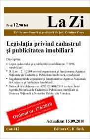 Legislatia privind cadastru si publicitatea imobiliara (actualizat la 15.09.2010). Cod 412 -