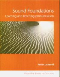 Sound foundations Learning and teaching pronunciations+CD - Adrian Underhill