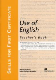 Use of english Teacher's book grammar - Malcolm Mann,steve Taylore-Knowles