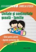 Unitate si continuitate scoala-familie clasa a IV-a (Agenda elevului) - Camelia Stoica
