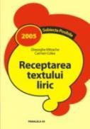 Receptarea Textului Liric - Mitrache Gheorghe, Colea Carmen