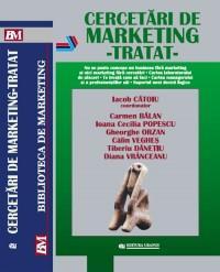 Cercetari de marketing -Tratat - Iacob Catoiu