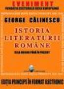 Istoria Literaturii Romane - prima editie in format electronic - CD - George Calinescu