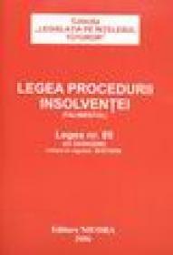 Legea procedurii insolventei (Falimentul) - ***