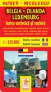 Belgia - Olanda - Luxemburg - Harta turistica si rutiera - HUBER - NICULESCU