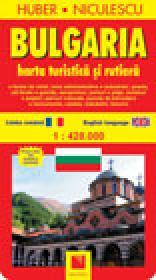 Bulgaria. Harta turistica si rutiera - HUBER-NICULESCU