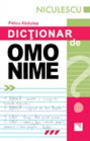Dictionar de omonime - Petcu Abdulea