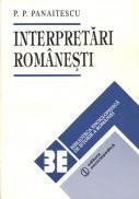 Interpretari romanesti - P.P. Panaitescu