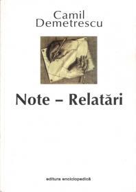 Note - Relatari - Camil Demetrescu