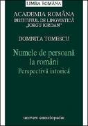 Numele de persoana la romani - Domnita Tomescu