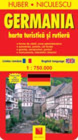 Harta Germaniei - turistica si rutiera - HUBER - NICULESCU