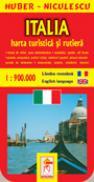 Harta Italiei - turistica si rutiera - HUBER - NICULESCU