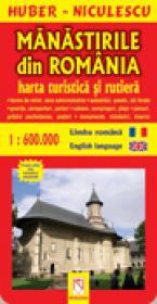 Manastirile din Romania - harta turistica si rutiera - HUBER-NICULESCU