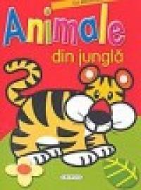 Animale din jungla- carte cu abtibilduri si poze - ***