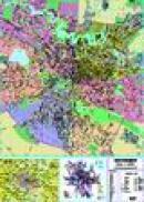 Bucuresti - planul orasului laminata (scara: 1:15.000) -