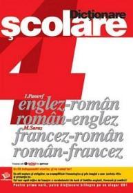4 Dictionare scolare englez-roman; roman-englez; francez-roman; roman-francez - ***