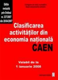 Clasificarea activitatilor din economia nationala-CAEN - Culegere de acte normative
