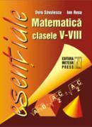 Matematica - formule utile pentru elevii claselor V-VIII - Doru Savulescu, Ion Rosu