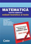 Matematica. Teze cu subiect unic 2008-2009  - S. Sabau, I. Rosu, E. Teodorescu, G. Cristescu