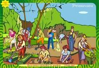 PRIMAVARA. Activitatea oamenilor in livada, pe camp, in gradina - Bercea Florica, Gramescu Maria