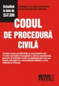 Codul de procedura civila - Culegere de acte normative