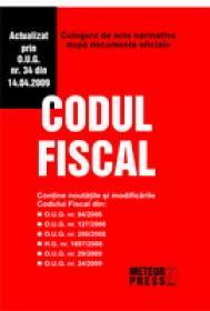 Codul fiscal - Culegere de acte normative