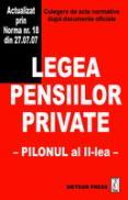 Legea pensiilor private - Culegere de acte normative