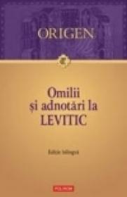 Omilii si adnotari la Levitic - Origen