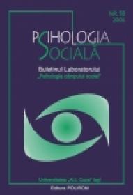 Psihologia Sociala. Nr. 18/2006 ? Buletinul Laboratorului ?Psihologia cimpului social?, Universitatea ?Al.I. Cuza?, Iasi - ***