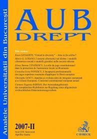 Analele Universitii Din Bucuresti, 2007 - Ii (aprilie-iunie) - ***