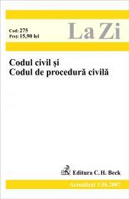 Codul Civil si Codul De Procedura Civila (actualizat La 01.06.2007). Cod 275 - ***