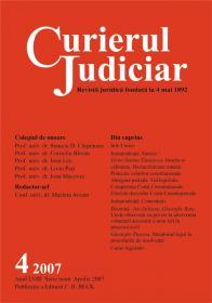 Curierul Judiciar Nr.4/2007 (aprilie 2007) - ***