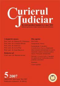Curierul Judiciar Nr. 5/2007 (mai 2007) - ***