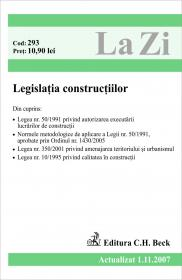Legislatia Constructiilor (actualizat La 01.11.2007). Cod 293 - ***