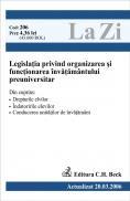 Legislatia Privind Organizarea si Functionarea Invatamantului Preuniversitar (actualizat La 20.03.2006). Cod 206 - ***