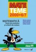 Matematica. Teme De Evaluare si Criterii De Notare. Clasa A Vi-a. Semestrul I - Lobaza Marius, Nemes Andrei, Piroska Iarger, Tomici Corina