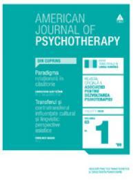 American Journal of Psychotherapy nr. 1 / 2009 - Publicatie trimestriala