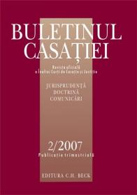 Buletinul Casatiei, Nr.2/ 2007 - Inalta Curte de Casatie si Justitie